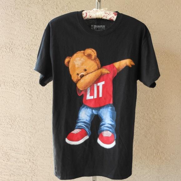 cdcf31525d91 Hard Ten Clothing Company Shirts | Lit Dab Bear Unisex Tshirt Nwot ...